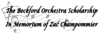 click to go to Orchestra Scholarship page